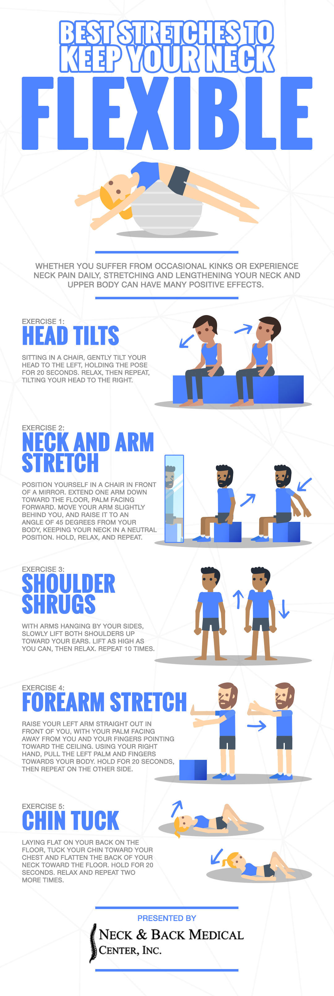 Fix Neck Pain Neck Stretches Neck And Back Medical Center