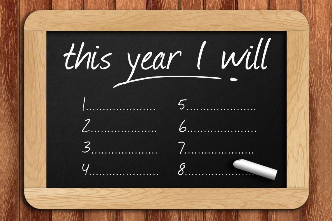 New Year Resolution chalkboard